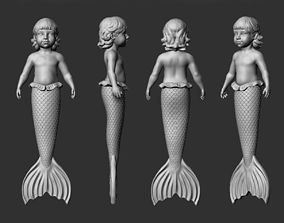 mermaid baby for 3d printing