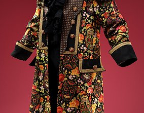 3D asset Fruity Skull Coat Cosplay Outfit