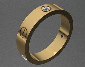 3dmodel Cartier Style Diamond Ring 3D printable model
