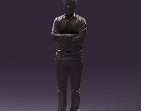 Man in white tshurt close pose 0890 3D Print Readi
