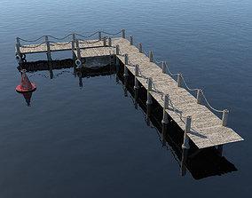 Marina for boats 3D