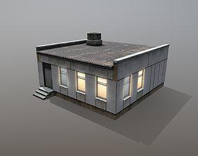 3D asset low-poly Railway Building RW BlockPost