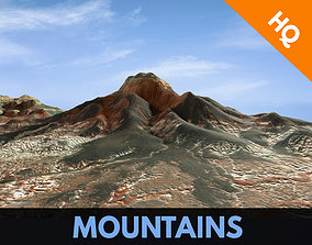 Mountains Surface Terrain Landscape Environemnt 3D asset 1