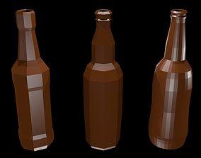 3D model Low poly beer bottles