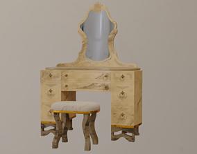 Makeup Dressing Table 3D model