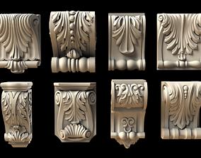 set carved bracket 1 3D print model