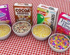 3D model Breakfast Cereals