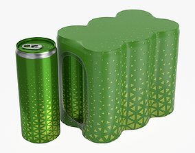 3D Packaging for six 250ml slim beverage soda cans