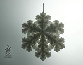 Snowflake fractal pendant 3D print model