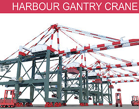 3D Harbour Gantry Crane