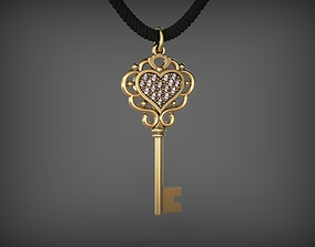 keys Pendant Key 8 STL 3D print model