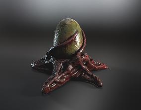 3D asset Biomass monster egg