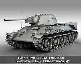 T-34-76 UZTM - Model 1942 - Soviet Medium Tank 3D