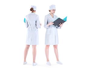 3D model Medical nurse 75
