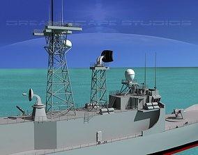 FFG 05 Adelaide Class Frigate HMAS Melbourne 3D