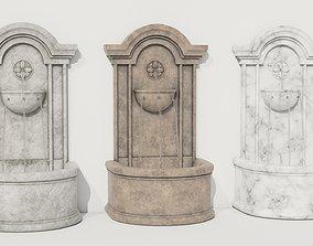 Wall Fountain THREE in ONE plus BONUS 3D asset