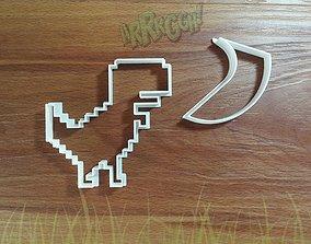 3D print model Pixel Dinosaur cookie cutter