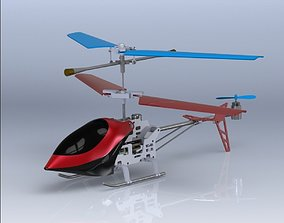 Mini RC Helicopter 3D asset