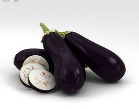 3D model garden Eggplant