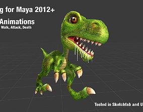 3D model Low-Poly Cartoon Dinosaur