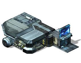 3D Spacecraft - Ground Platform 08