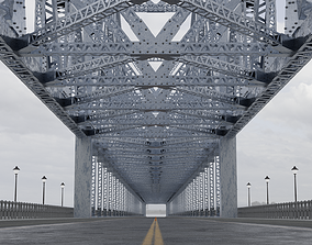 Suspension Type Balanced Cantilever Bridge 3D