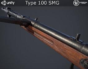 3D model Type 100 Submachine Gun