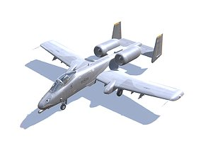A-10 Thunderbolt 3D model low-poly