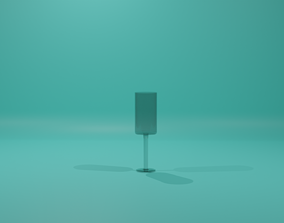 A glass for Champagne 3D model