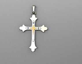 men cross pendant abstract 3D print model