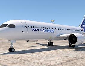 AIRBUS A220 3D model