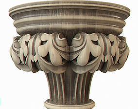 Gothic pilaster 3D