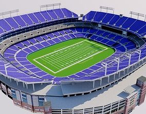 MT Bank Stadium - Baltimore 3D asset
