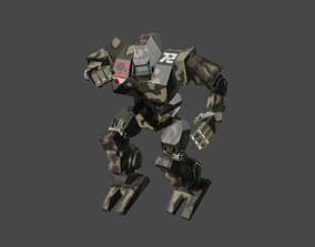 rigged low-poly 3D - Mecha Robot - FRK 209