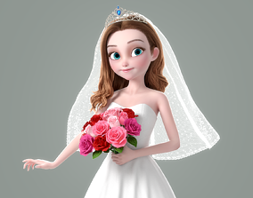 3D Cartoon Bride Rigged