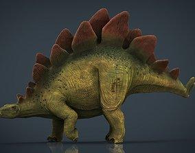 3D asset game-ready Stegosaurus