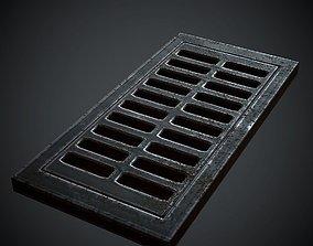 3D asset Floor Lattice PBR Low Poly