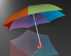 Umbrella 3d model low-poly