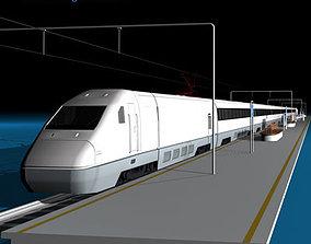 3D model High speed train