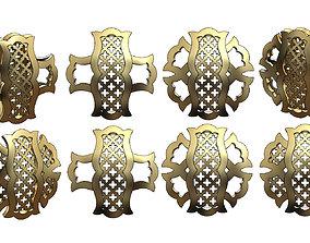 Variations on a arabian islamic pattern for 3D model 1