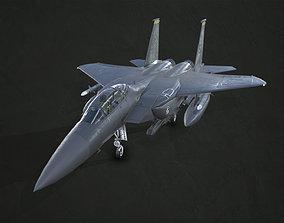 McDonnell Douglas F-15E Strike Eagle 3D asset low-poly