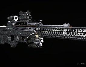 3D model Sci-fi concept Laser Rifle