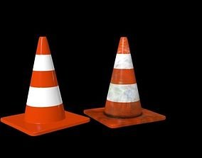 Road cone dirty and clean 3D model