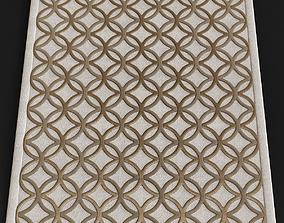 Light beige CC tapis modern rugs 3D asset