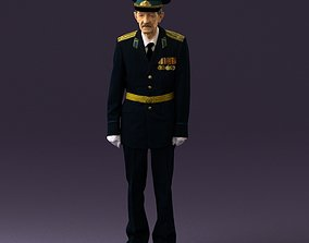 Old man in veteran suit 0915 3D model