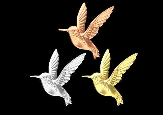 Hummingbird Gold 3D Model 3D print model