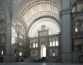Great Hall corridor 3D model