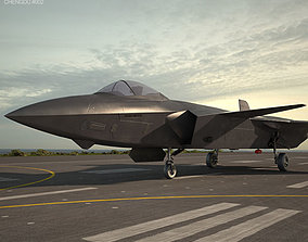 aircraft 3D model Chengdu J-20