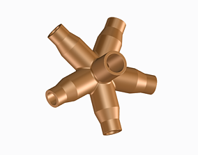 Innovative Pipe Fitting Concentric 3D printable model