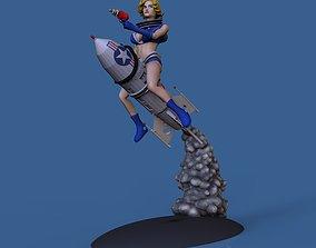 3D print model Spacegirl PinUp